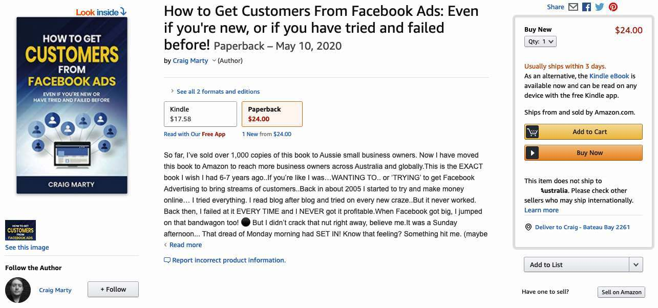 Book about Facebook Marketing